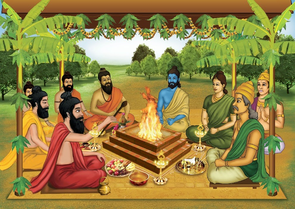 Yagya, a prayer by the sacred fire