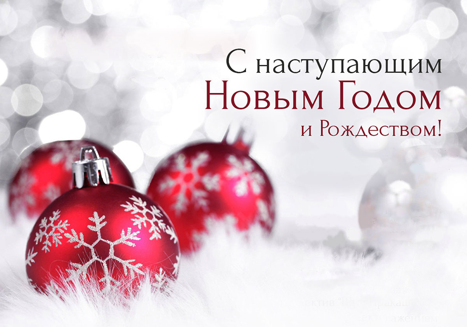 Dear friends! We wish you a Merry Christmas and a Happy New Year!